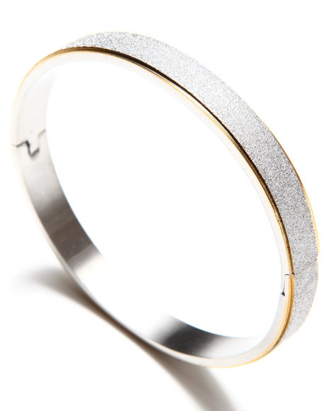 Drj Accessories Shoppe Women Glitter Filled Stainless Steel Bracelet Gold - $18.99