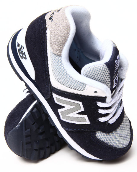 New Balance Boys Navy 574 Core Sneakers (5-10)