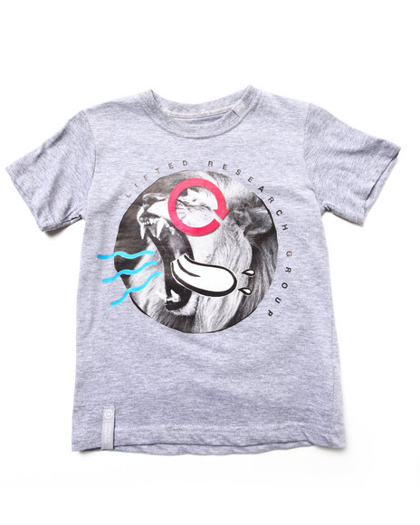 Lrg - Boys Light Grey Beast Out Tee (8-20)