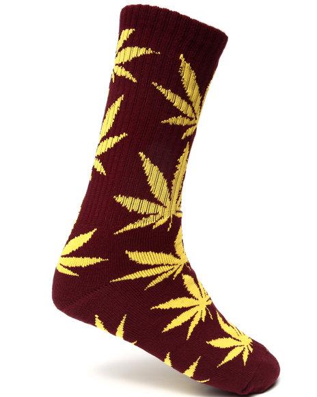 Huf Plantlife Crew Socks Gold