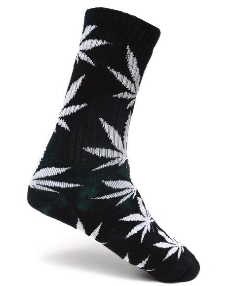 Huf Men Tie Dye Plantlife Crew Socks Green