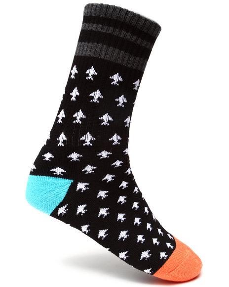 LRG Black Retro Revival Crew Socks
