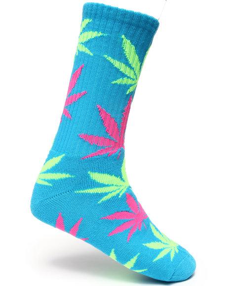 Huf Neon Plantlife Crew Socks Blue