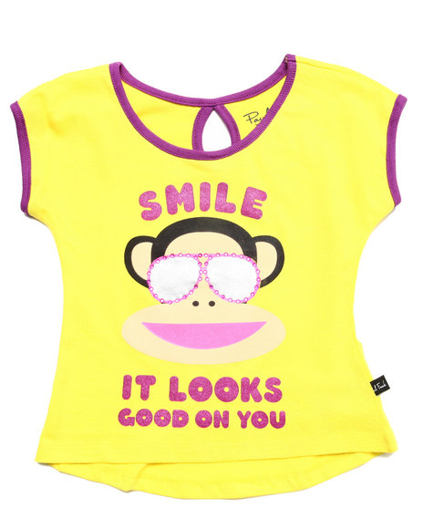 Paul Frank - Girls Yellow Smile Tee (2T-4T)