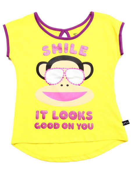 Paul Frank - Girls Yellow Smile Tee (4-6X)