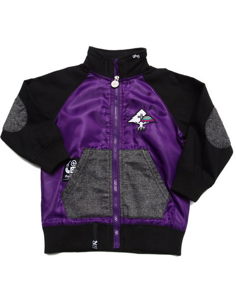 LRG - Boys Purple Lifted Varsity Jacket (2T-4T)