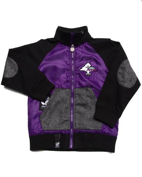 LRG - Boys Purple Lifted Varsity Jacket (4-7)