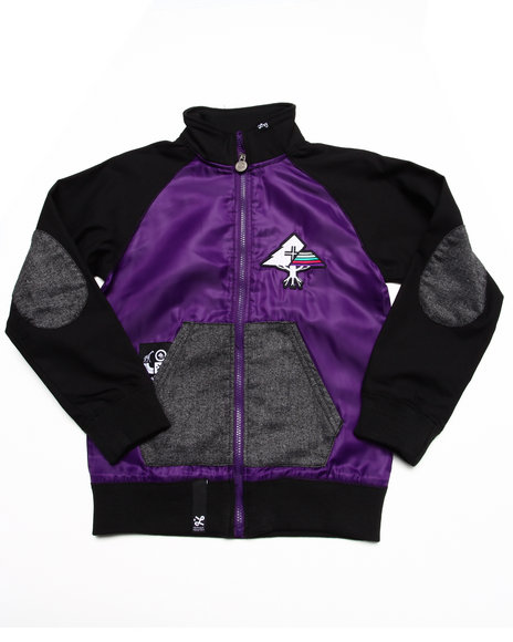 LRG - Boys Purple Lifted Varsity Jacket (8-20)