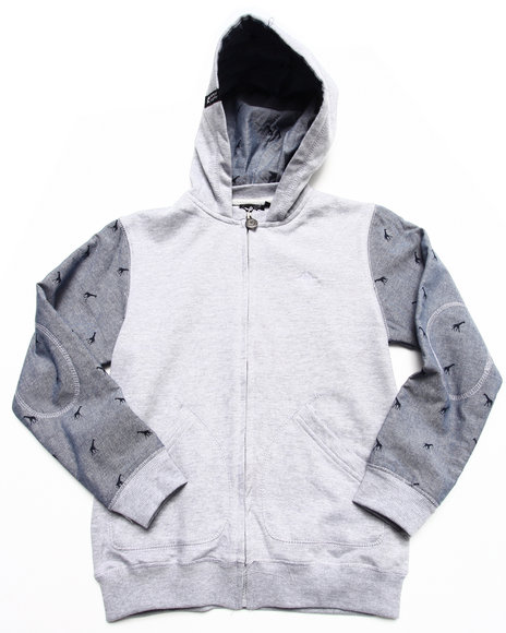 LRG Boys Light Grey Birch Hoody (8-20)