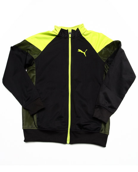 Puma - Boys Black Puma Mesh Jacket (8-20)