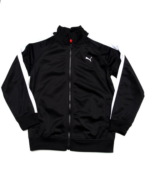 Puma - Boys Black 7 Cm Tricot Jacket (8-20)