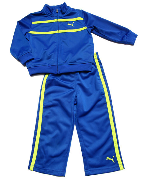 Puma - Boys Blue Logo Tricot Set (2T-4T)