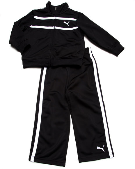 Puma - Boys Black Logo Tricot Set (2T-4T) - $21.99