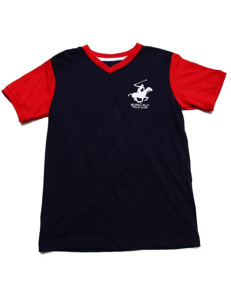 Arcade Styles - Boys Navy Jersey V-Neck Tee (8-20) - $5.99