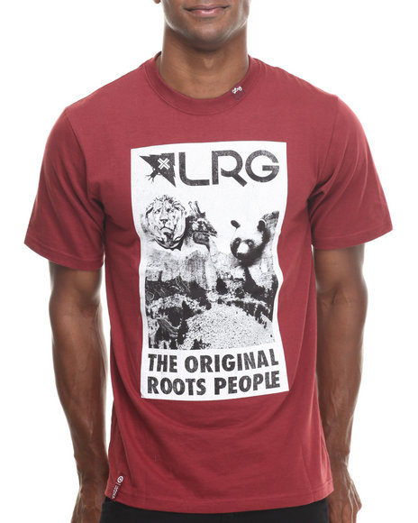 Lrg - Men Maroon Core Monument S/S Tee