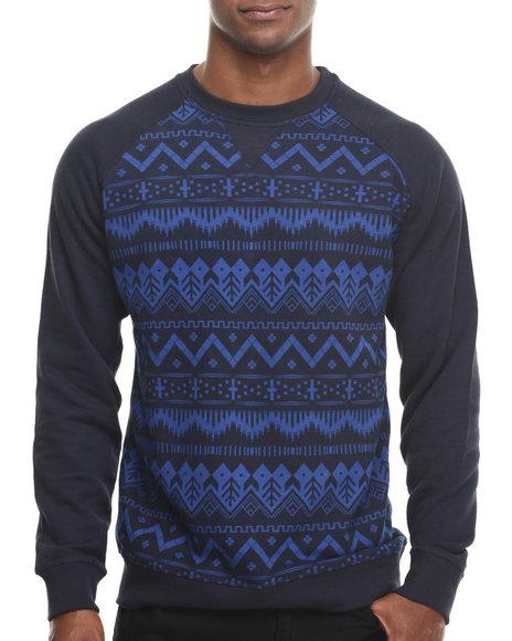 Basic Essentials - Men Navy Nordic Crewneck Sweatshirt - $28.99