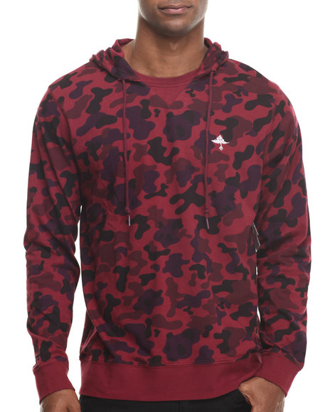 Lrg - Men Maroon Research Collection Printed Pullover Hoodie I I