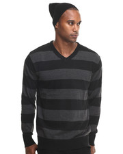 Basic Essentials - Wide - Stripe Sweater W/ Beanie