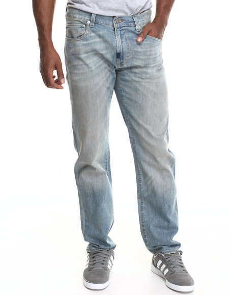 Lrg - Men Light Wash Core True - Straight Denim Jeans