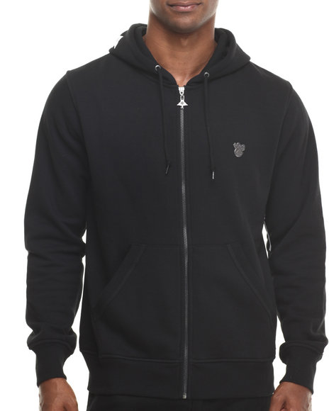 Lrg - Men Black Research Collection Zip - Up Hoodie