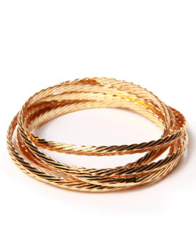 DRJ Accessories Shoppe - Textured Interlock Bangles