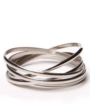 Women - Interlocked Stainless Steel Bangles