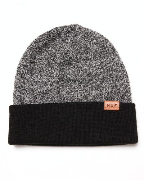 Huf Reversible Mixed Yarn Beanie Black