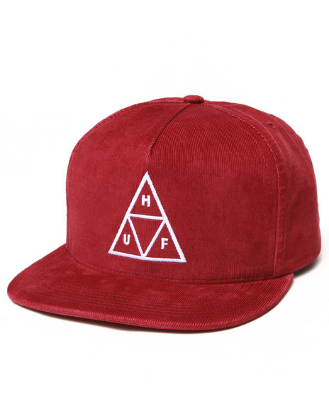 Huf Triple Triangle Snapback Cap Red
