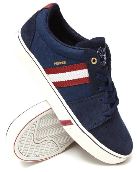 Huf - Men Maroon,Navy Pepper Pro Sneakers