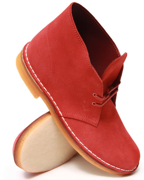 Clarks - Men Red Desert Boots - $120.00