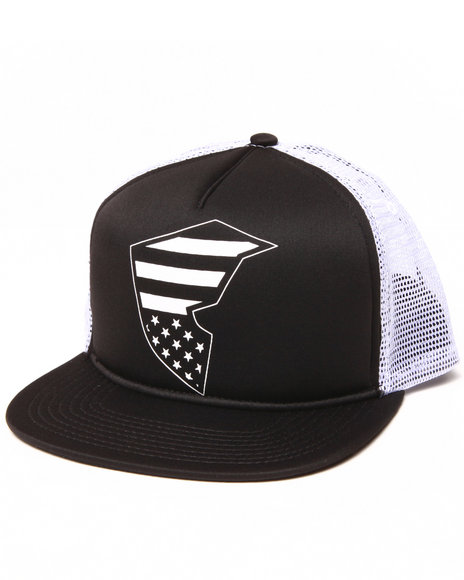 Famous Stars & Straps Flag Badge Snapback Hat Black