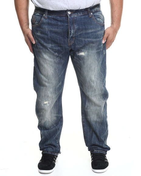 Eight 732 Vein Denim Jeans (Big & Tall) Medium Wash 46