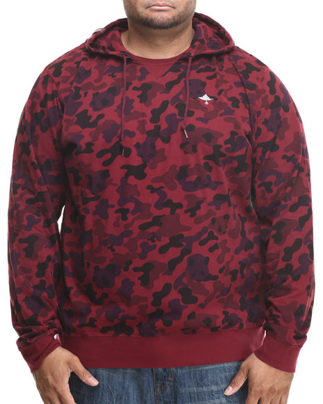 Lrg - Men Maroon Research Collection Printed Pullover Hoodie I I (B&T)