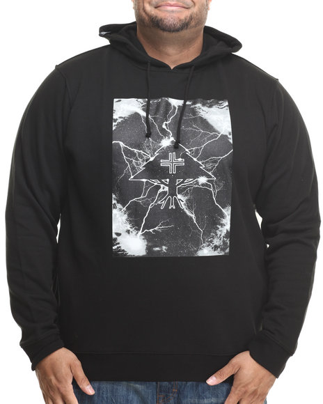 Lrg - Men Black Striker Pullover Hoodie (B&T)