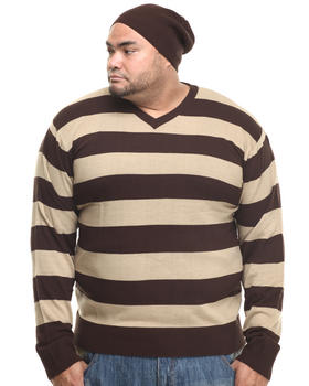 Basic Essentials - Wide - Stripe Sweater W/ Beanie (B&T)