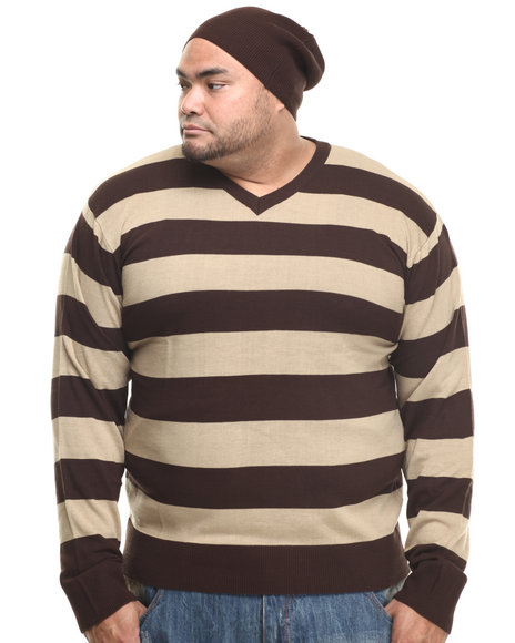 Basic Essentials - Wide - Stripe Sweater W/ Beanie (B&T)