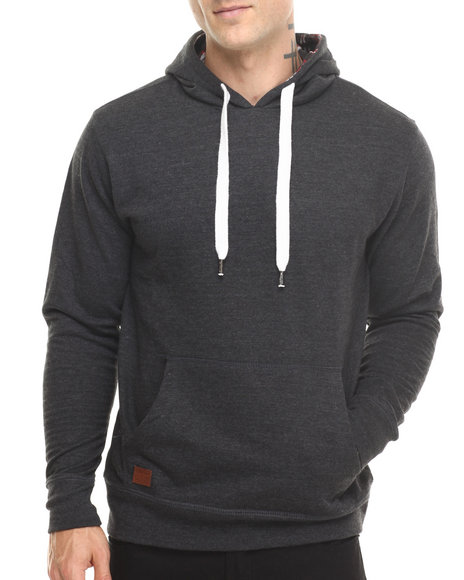 Buyers Picks - Men Charcoal Brushed Fleece Pullover Hoody - $30.99