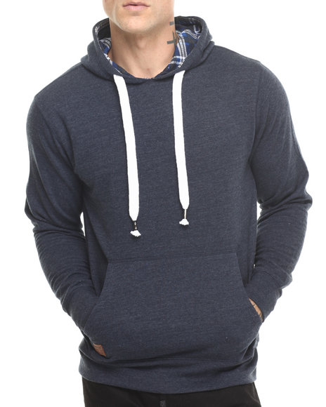 Buyers Picks - Men Navy Brushed Fleece Pullover Hoody