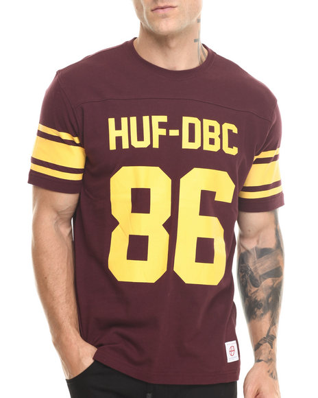 Huf - Men Maroon Wrecking Crew Football Jersey