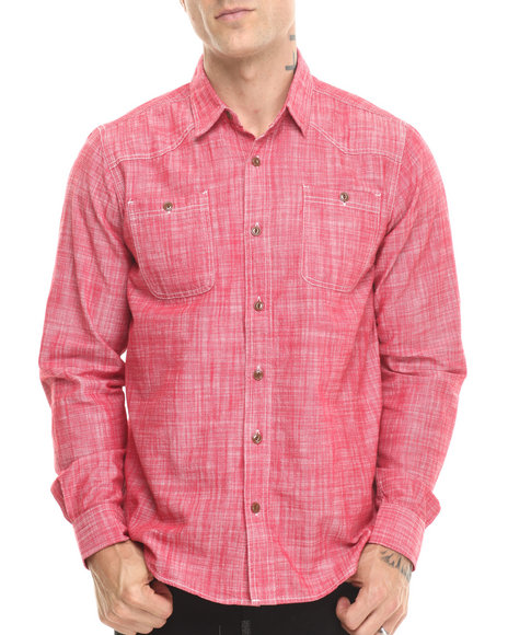 Red Button Down Shirt Men