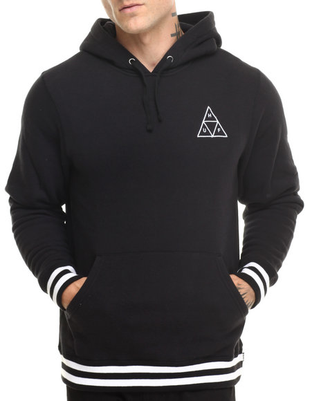 Huf - Men Black Huf Triangle Pullover Hoodie