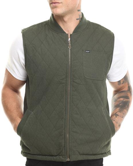 Huf - Men Camo,Olive Tiger Camo Reversible Vest