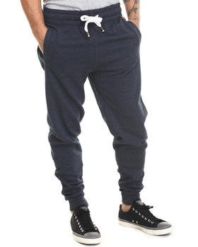Buyers Picks - Faux leather mini patch detail drawstring sweatpants