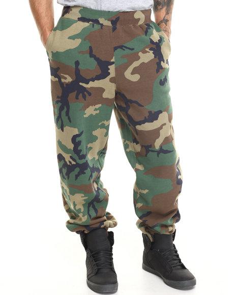 HUF Camo Woodland Camo Fleece Pants