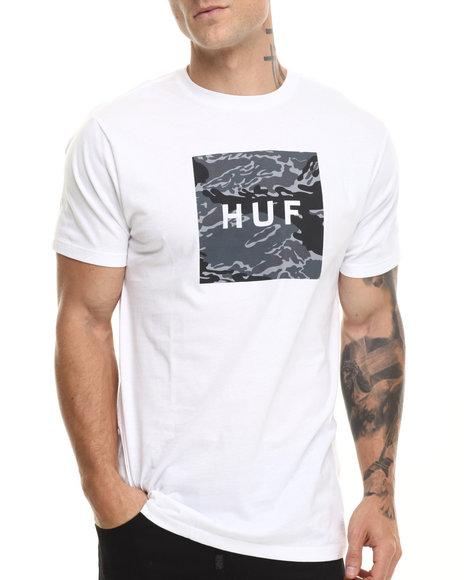Huf - Men White Tiger Camo Box Logo Tee