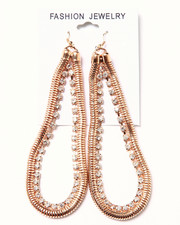 Women - Chain & Stone Earrings