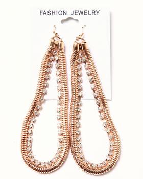 DRJ Accessories Shoppe - Chain & Stone Earrings
