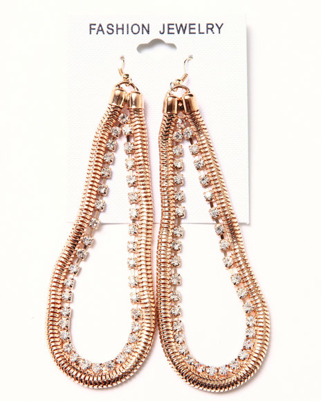 DRJ Accessories Shoppe - Chain & Stone Earrings
