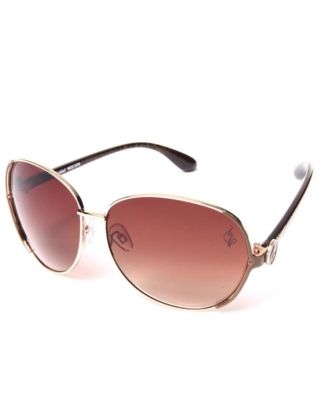 Baby Phat Women Fly Aviator Sunglasses Gold