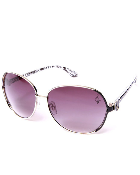 Baby Phat Women Fly Aviator Sunglasses Silver